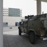 El Regimiento NBQ de La Legión interviene en la residencia Balcón de La Zubia