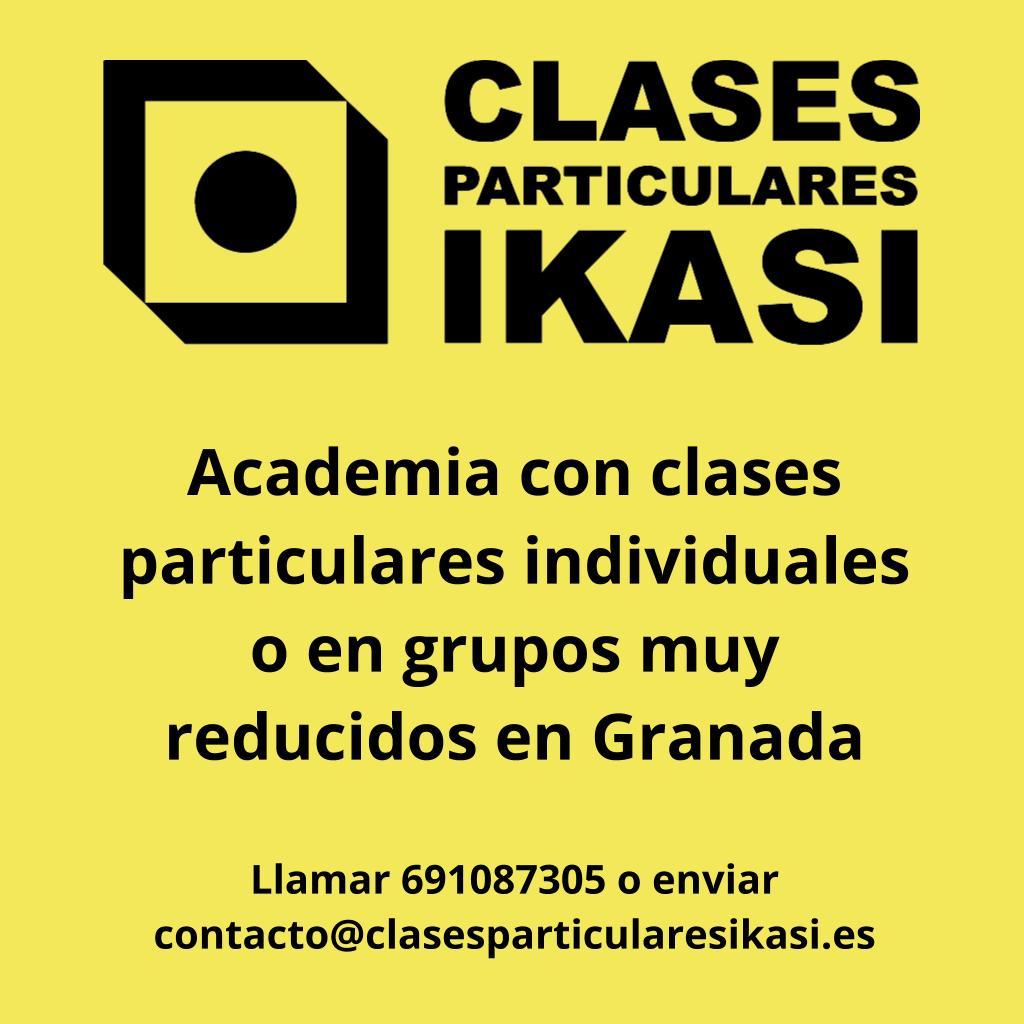 Clases particulares Ikasi - Academia con clases particulares individuales o en grupos muy reducidos en Granada