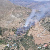 Ante el juez un joven de 20 años por el incendio forestal en Güéjar Sierra el pasado viernes